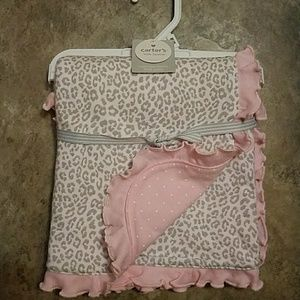 NWT Carters 2 ply 100% cotton baby blanket